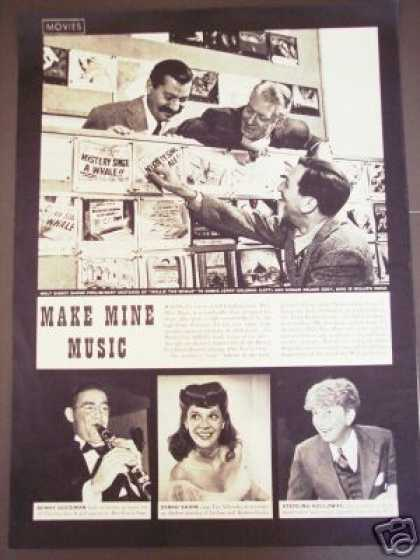 Walt Disney Movie Ad Make Mine Music Dinah Shore (1946)
