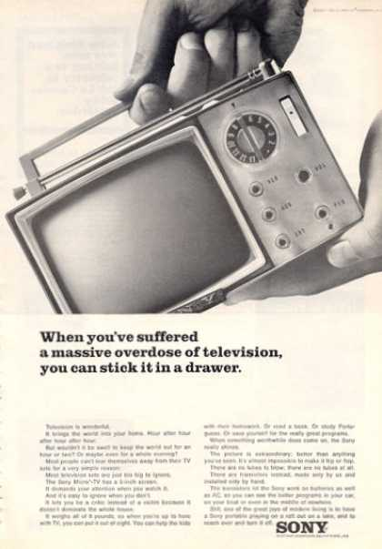 Sony Portable Tv Television Radio (1964)