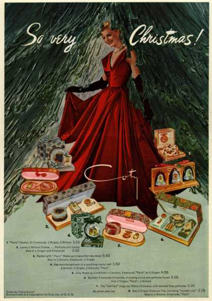 Coty's Cosmetic gifts – So very Christmas (1948)