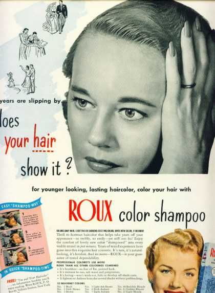 Roux Color Shampoo Does Your Hair Show It (1951)