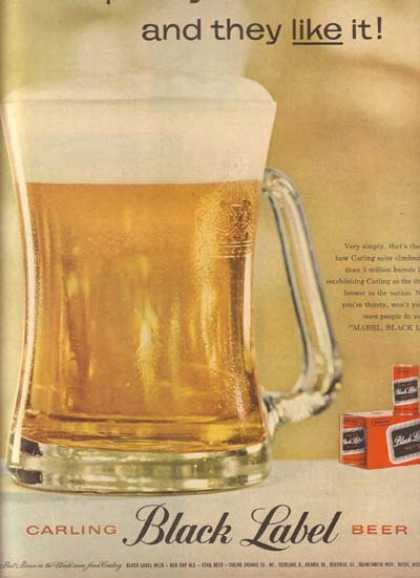 Carling's Black Label Beer (1959)