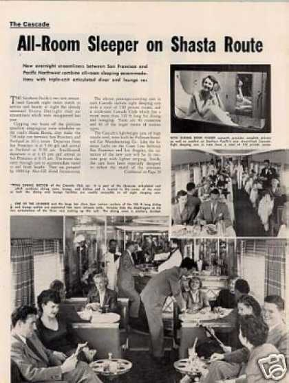 """All-room Sleeper On Shasta..."" Article/sp Cascade (1950)"