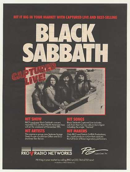 Black Sabbath Captured Live RKO Radio Networks (1983)
