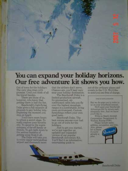 Beechcraft Airplanes Plane Free adventure kit expand horizons (1977)