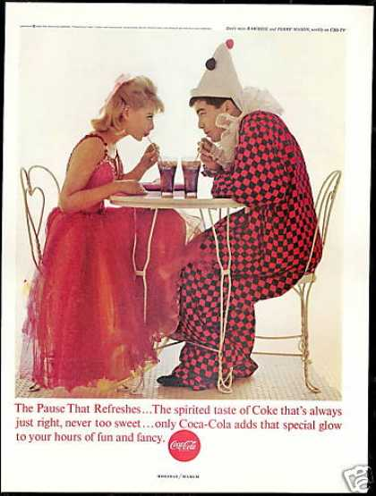 Coke Coca Cola Clown &amp; Princess Photo (1963)