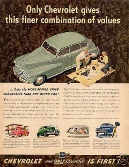 "Chevrolet Car Ad ""Only Chevrolet Gives... (1948)"
