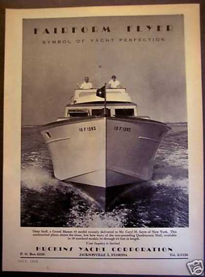 Huckins Yachts Grand Manan 45 Model (1953)