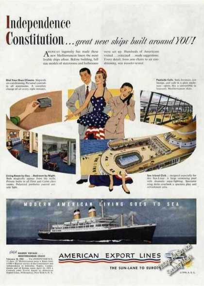 New Cruise Ship Independence Maiden Voyage (1950)