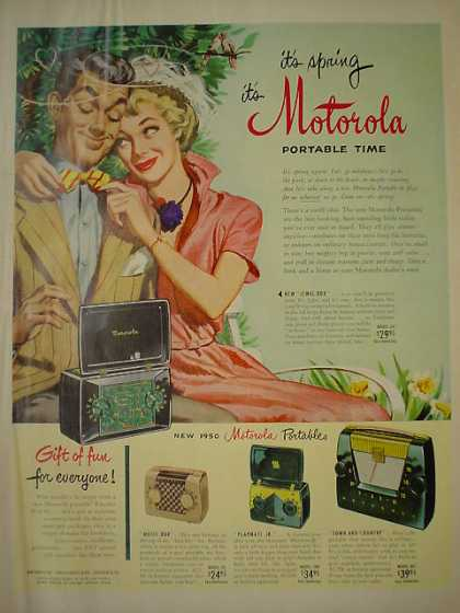 Motorola Portable Radios Gift of fun for everyone (1950)