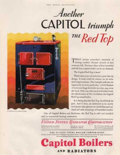 Red Top Capitol Boilers & Radiators (1929)