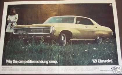 '69 Chevy Chevrolet Caprice 2pg Foldout Car (1968)