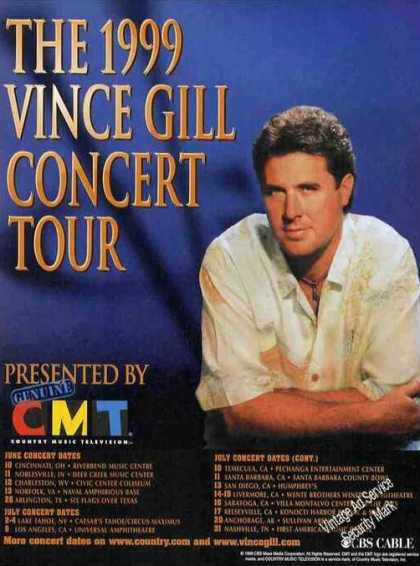 Vince Gill Concert Tour Schedule Photo (1999)