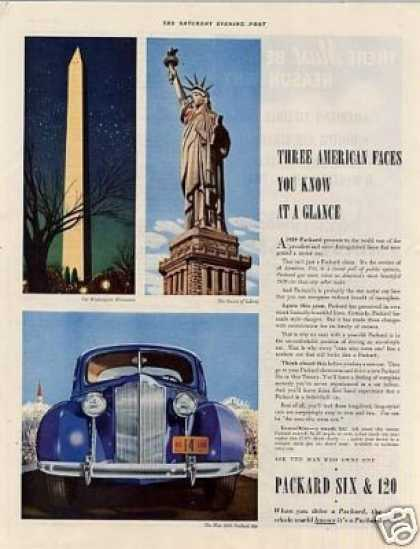 "Packard Car Color Ad ""Three American Faces... (1939)"