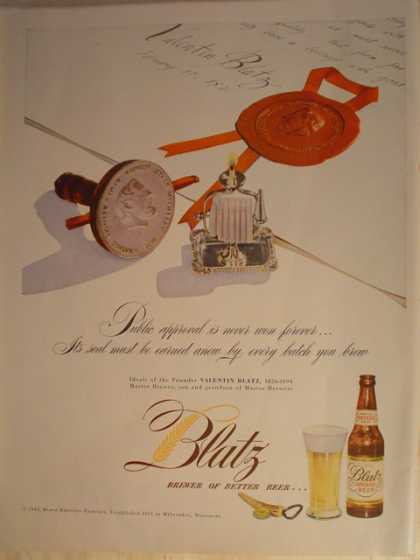 Blatz Beer.Brewer of better beer (1947)