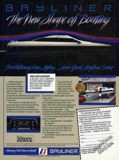 "Bayliner Capri Photo ""The New Shape of Beauty"" (1985)"