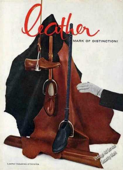 "Leather ""Mark of Distinction!"" Fashion (1957)"