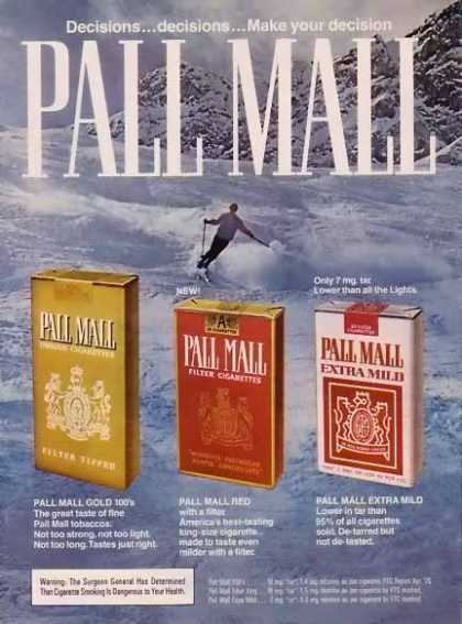 Pall Mall Cigarettes – Skiing the slopes (1976)