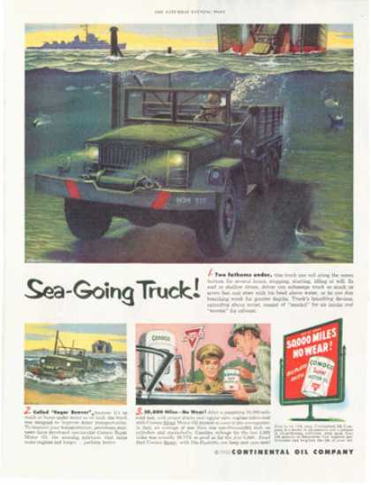 Conoco Oil Eager Beaver Underwater Army Truck (1952)