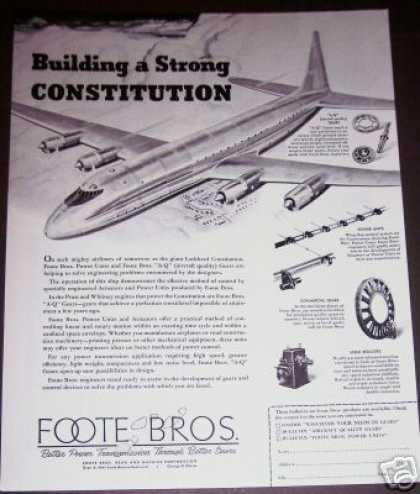 Lockheed Constitution Plane Airliner Foote Bros (1947)