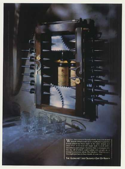 '86 Glenlivet Scotch Whisky Bottle in Torture Device (1986)
