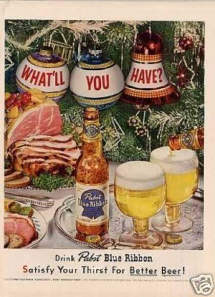 Pabst Blue Ribbon Beer (1952)