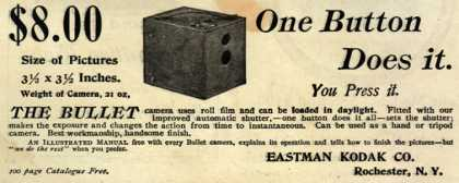 Kodak's Bullet Camera – One Button Does it. (1895)