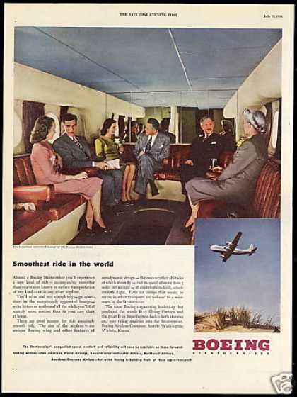 Boeing Stratocruiser Airplane Lower Deck Lounge (1946)