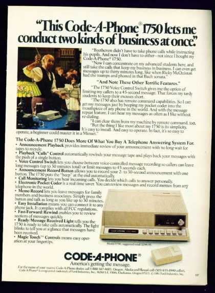 Code a Phone Model Answering Machine C 1982 (1982)