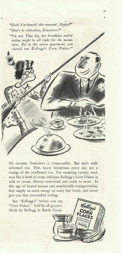 Kelloggs Corn Flakes Cartoon (1938)