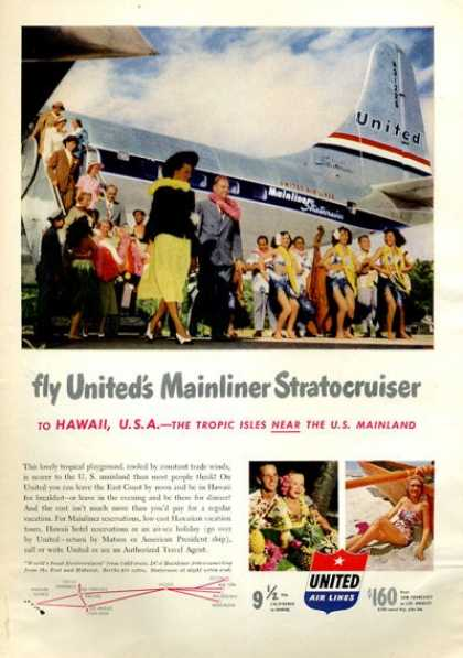 United Air Lines Stratocruiser Hawaii (1951)