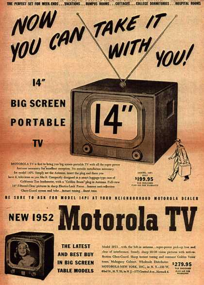 Motorola's Television – Now You Can Take It With You (1951)
