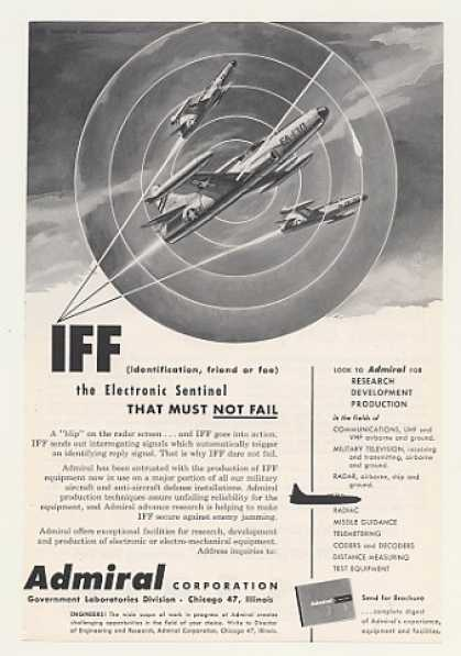 Military Aircraft Admiral IFF Electronic Radar (1955)