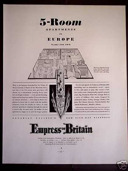 Empress of Britain Cruise Ship Travel (1931)