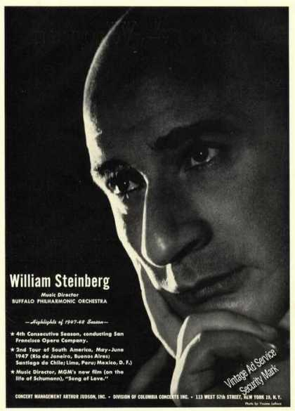 William Steinberg Photo Music Director Trade (1947)