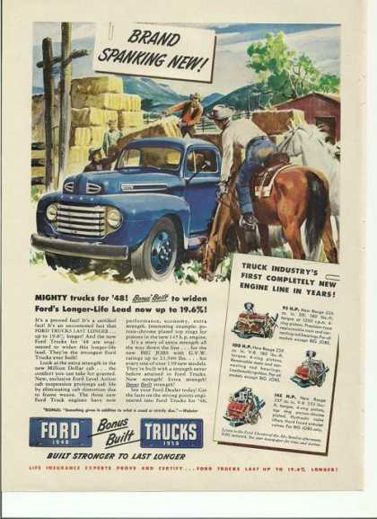 Built Stronger To Last Longer Ford Truck A (1948)