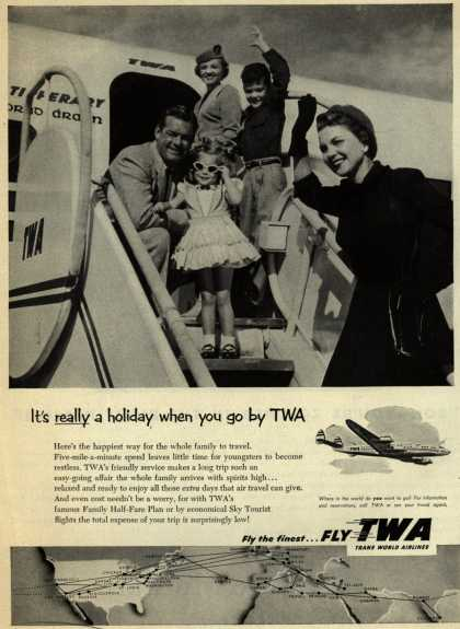 Trans World Airline's Family Half-Fare plan – It's really a holiday when you go by TWA (1953)