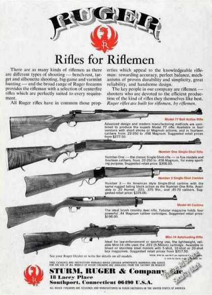 Ruger Rifles for Riflemen Guns (1979)
