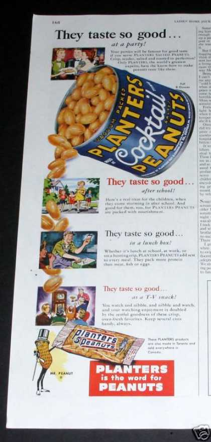 Planters Cocktail Peanuts, Good (1950)