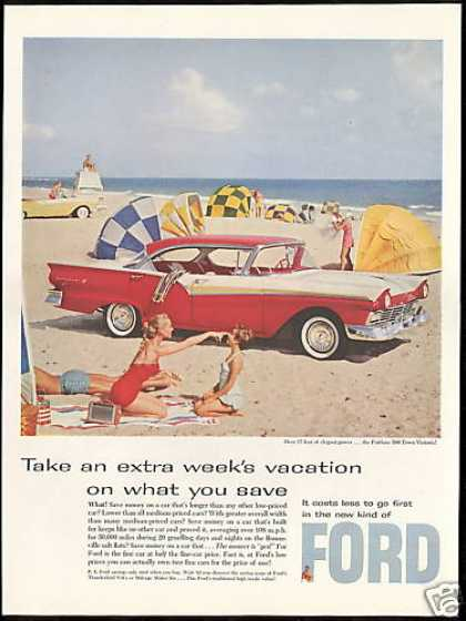 Ford Fairlane 500 Town Victoria Car Photo (1957)