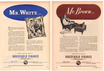 Household Finance Ads – Set of 2 (1949)