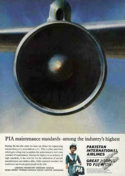 Pakistan International Airlines Pia Maintenance (1965)