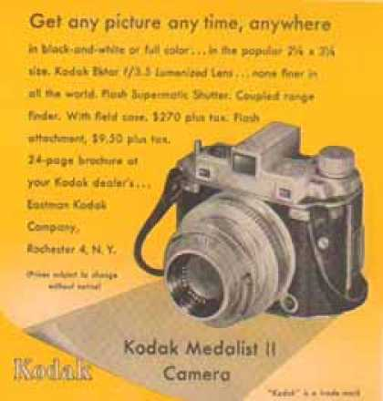 Kodak Camera – Medalist II with Ektar F – 3.5 Lens – Sold (1948)