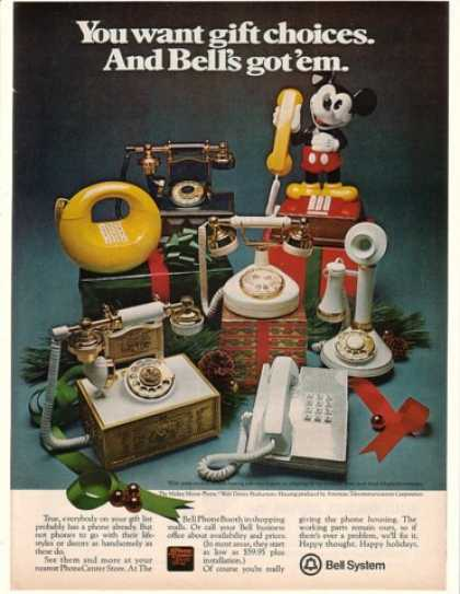 Bell Telephone Gift Phones Mickey Mouse Phone (1977)