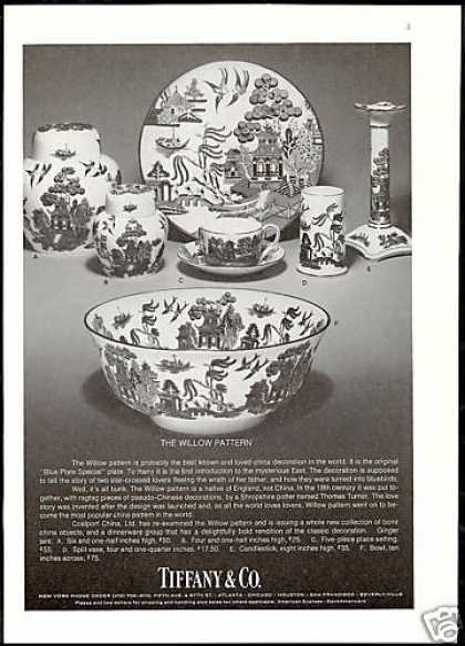 Coalport China Willow Pattern Tiffany Co (1975)