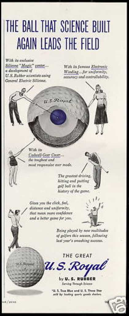 US Royal Golf Ball Leads The Field (1949)