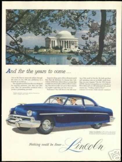 Lincoln Car Jefferson Memorial Washington DC (1951)