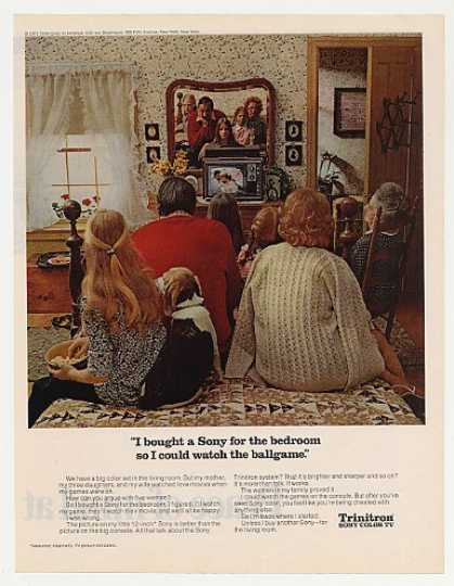 &#8217;71 Sony Trinitron 12-inch TV Bedroom Better Picture (1971)