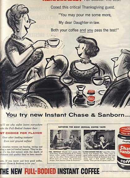 Chase & Sanborn's Full-Bodied Instant Coffee (1956)