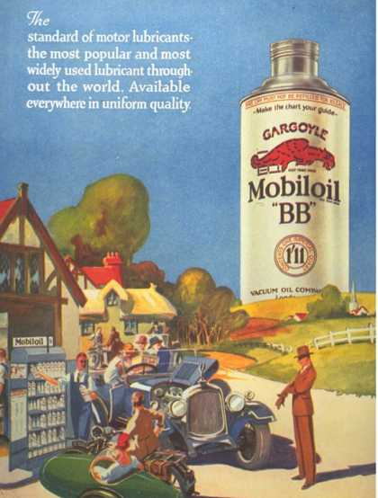 Mobiloil Gas Stations Day Trips, USA (1920)