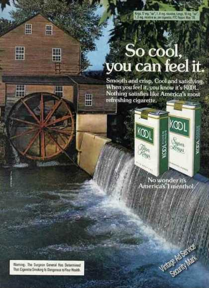 Kool Cigarettes Old Mill & Waterfall (1979)